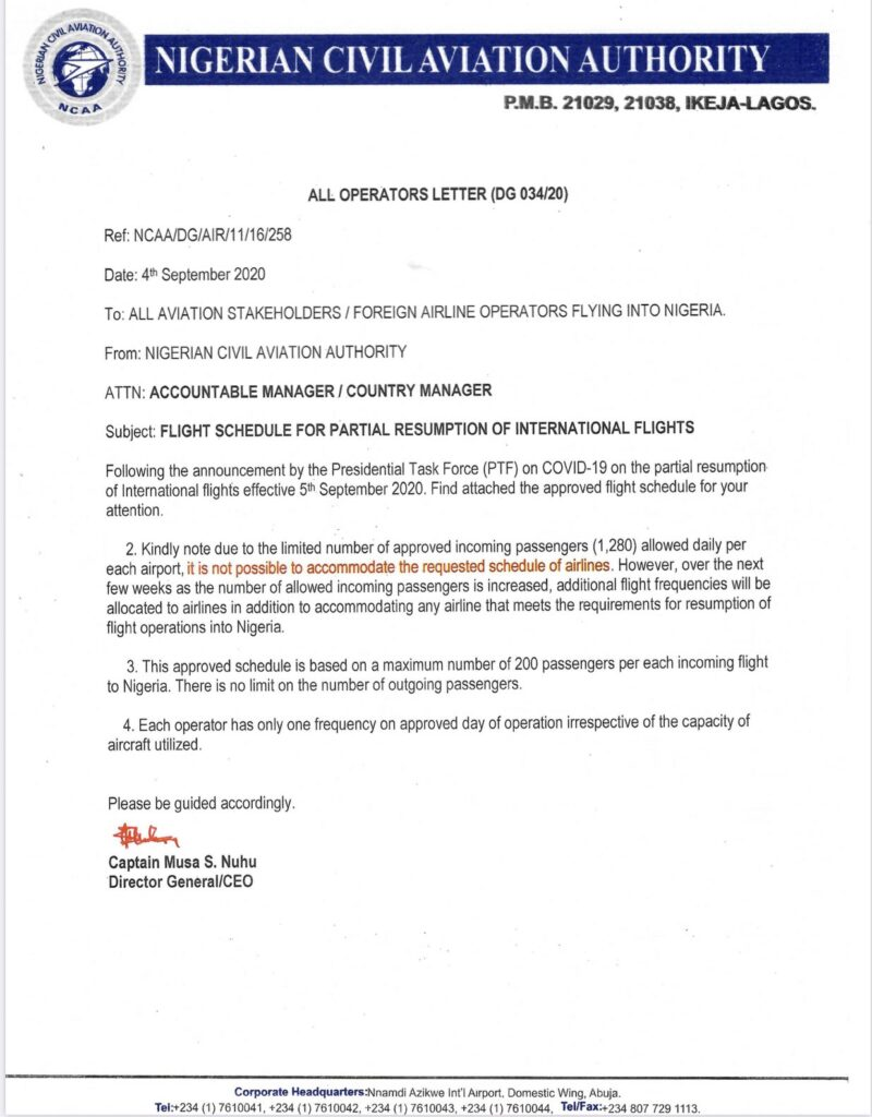 NCAA Travel Resumption Document